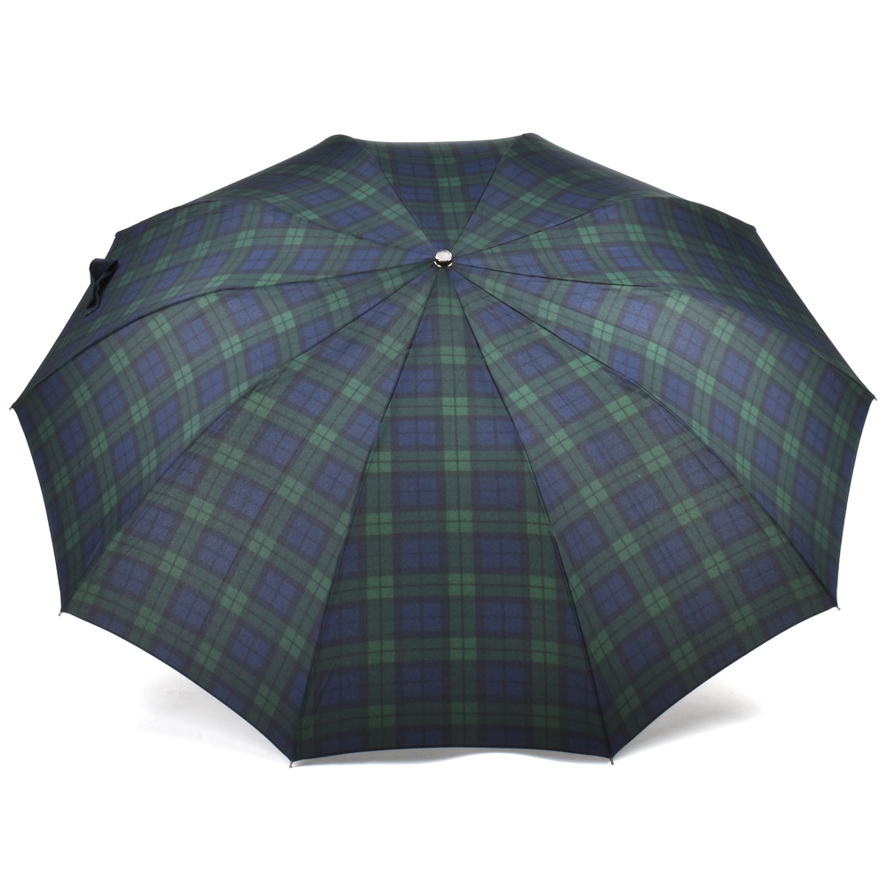 7c6ee4b016e9 Fox umbrellas FOX UMBRELLAS TEL2 Black Maple Straight Handle B.W.TARTAN  umbrella folding umbrella black steering wheel Black Watch tartan check men