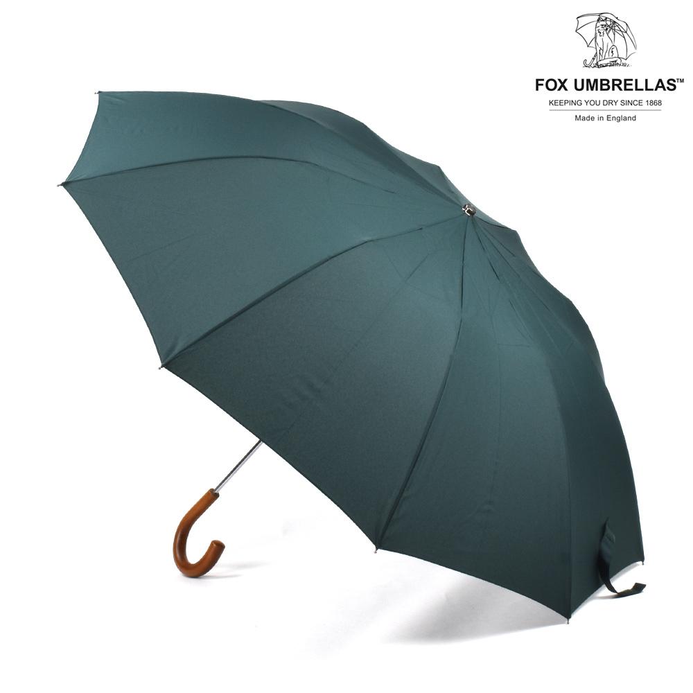 【ポイント3倍対象商品】フォックスアンブレラズ FOX UMBRELLAS TEL3 Malacca Crook 790 D.GREEN 傘 折りたたみ傘 ダークグリーン メンズ【送料無料】