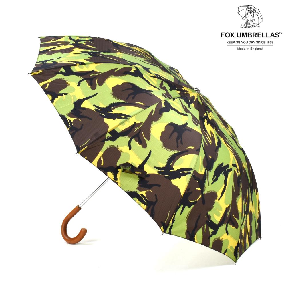 フォックスアンブレラズ FOX UMBRELLAS TEL3 Malacca Crook CAMOUFLAGE 傘 折りたたみ傘 カモ柄 迷彩 メンズ 【送料無料】