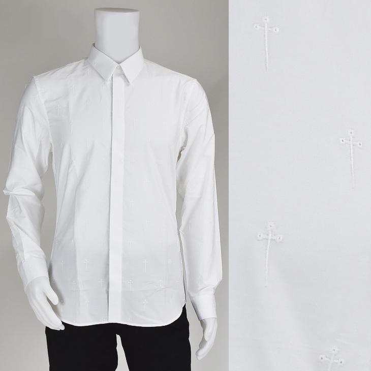 【ポイント3倍対象商品】GIVENCHY ジバンシー 16S 6017 380/100 シャツ Bianco メンズ/カッターシャツ/トップス【SS】【送料無料】
