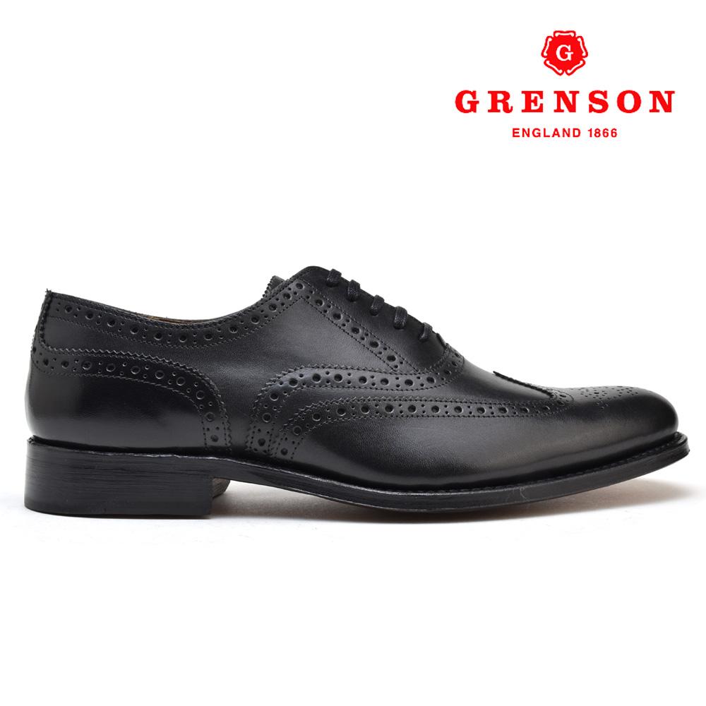 【500円OFFクーポン配布中 5月11日11:59まで】グレンソン ディラン ブラック カーフ GRENSON DYLAN 110013 BLACK CALF 黒 英国製 革靴 メンズ 【送料無料】