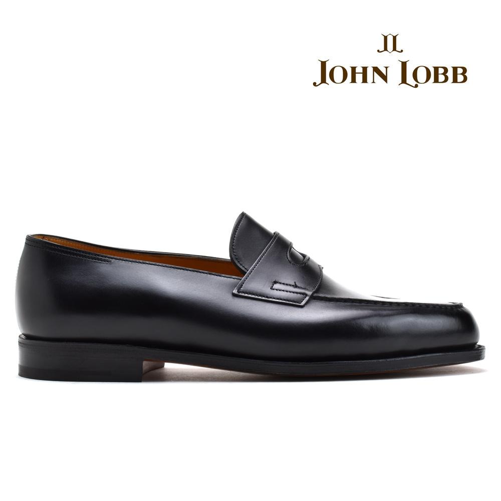【500円OFFクーポン配布中 5月11日11:59まで】ジョンロブ JOHN LOBB LOPEZ BLACK CALF ロペス ローファー 革靴 紳士靴 ビジネスシューズ ドレスシューズ Eワイズ ブラック 黒 メンズ【送料無料】