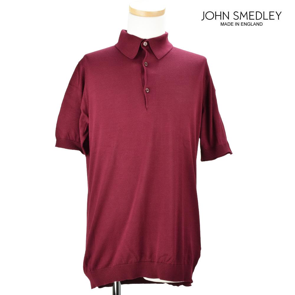 ジョンスメドレー JOHN SMEDLEY ADRIAN BURGUNDY ポロシャツ トップス 半袖 バーガンディ メンズ【送料無料】
