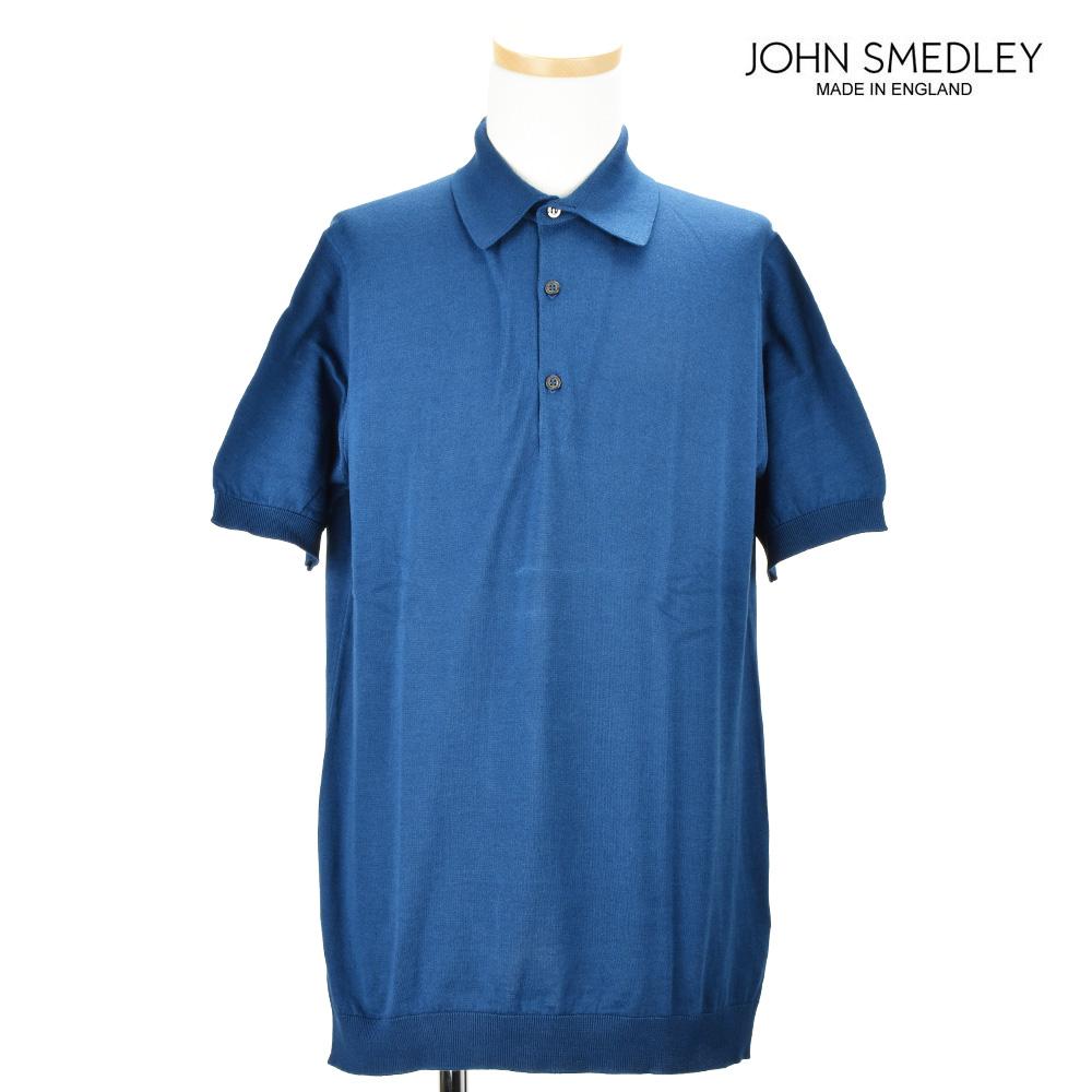 ジョンスメドレー JOHN SMEDLEY ADRIAN INDIGO ポロシャツ トップス 半袖 インディゴ メンズ【送料無料】