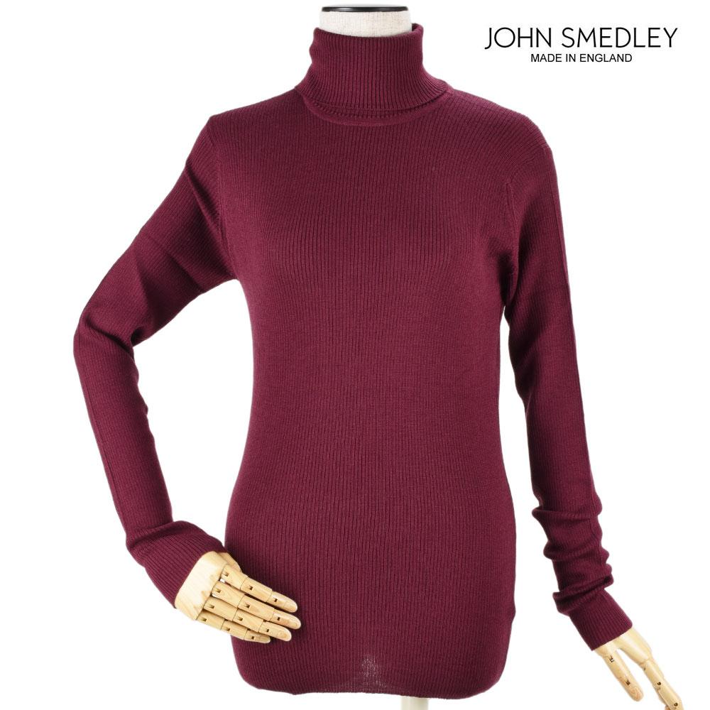 ジョンスメドレー JOHN SMEDLEY massey-maroon MASSEY マッセイ ハイネック ニット セーター レディース マルーン【送料無料】