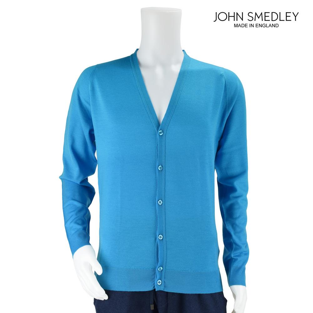 ジョンスメドレー JOHN SMEDLEY カーディガン 9032 BLUE メンズ