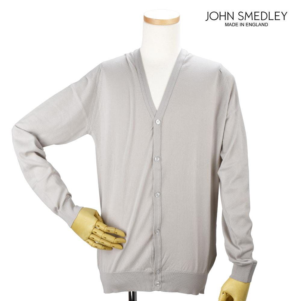 ジョンスメドレー JOHN SMEDLEY WHITCHURC BRUNEL BEIGE カーディガン セーター ベージュ メンズ【送料無料】