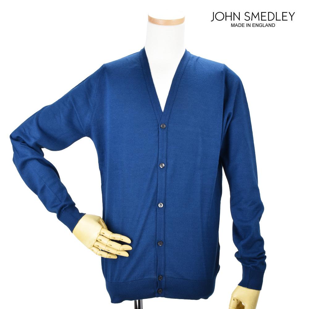 【ポイント3倍対象商品】ジョンスメドレー JOHN SMEDLEY WHITCHURC INDIGO カーディガン セーター インディゴ メンズ【送料無料】