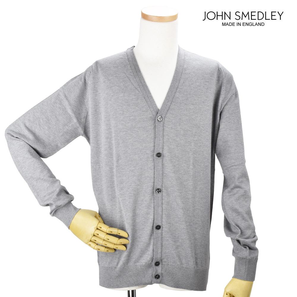 【ポイント3倍対象商品】ジョンスメドレー JOHN SMEDLEY WHITCHURC SILVER カーディガン セーター シルバー メンズ【送料無料】