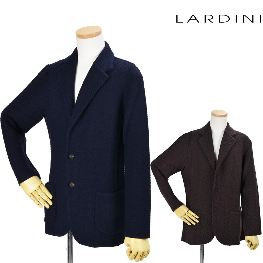 ラルディーニ LARDINI ILLJM56/IL53004 450 850 NAVY BROWN 2つボタン ニットジャケット テーラードジャケット ネイビー ブラウン メンズ【送料無料】