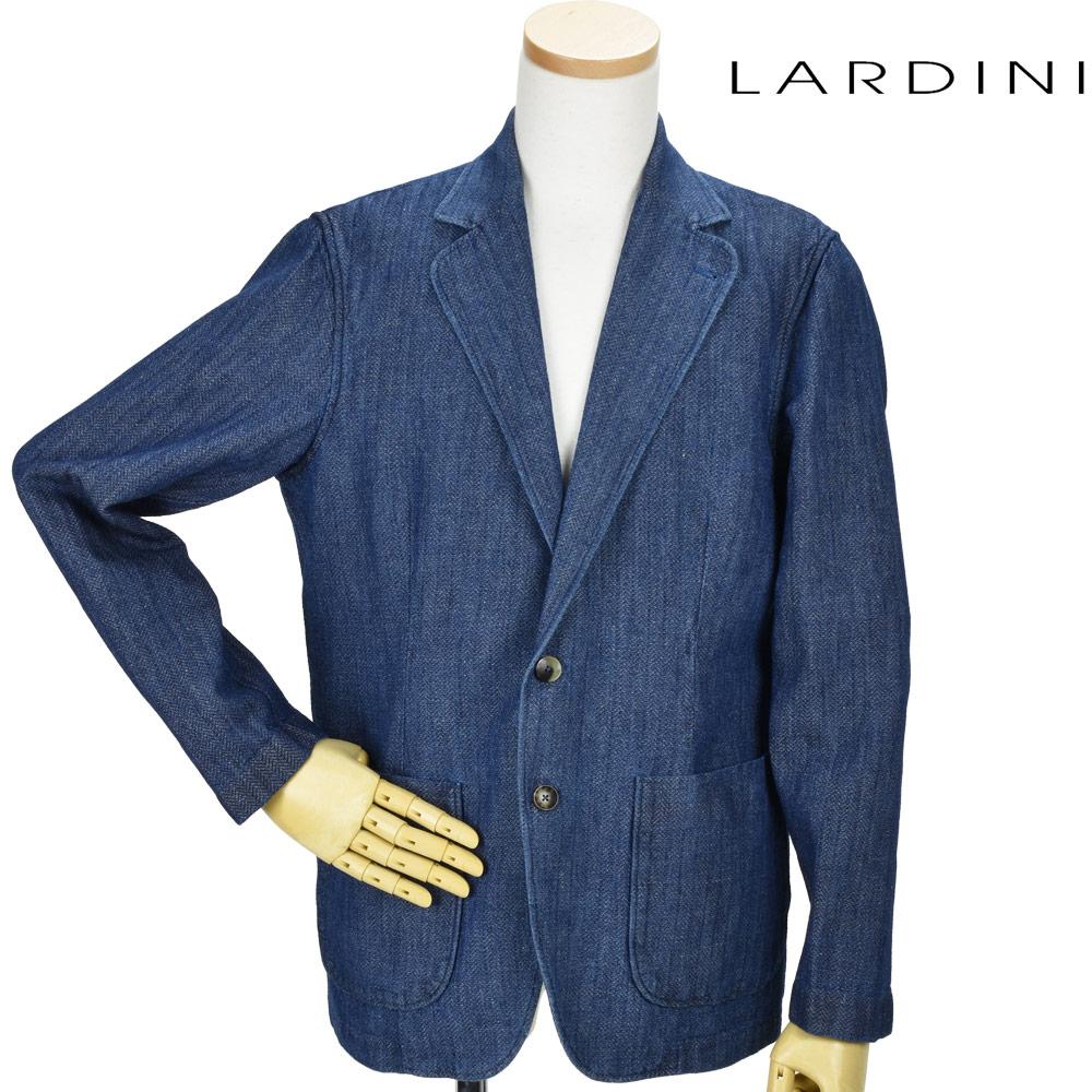 ラルディーニ LARDINI GAMA/EGC1049 800B JACKET シングル 2B ジャケット リネン混 テーラードジャケット インディゴ メンズ【送料無料】