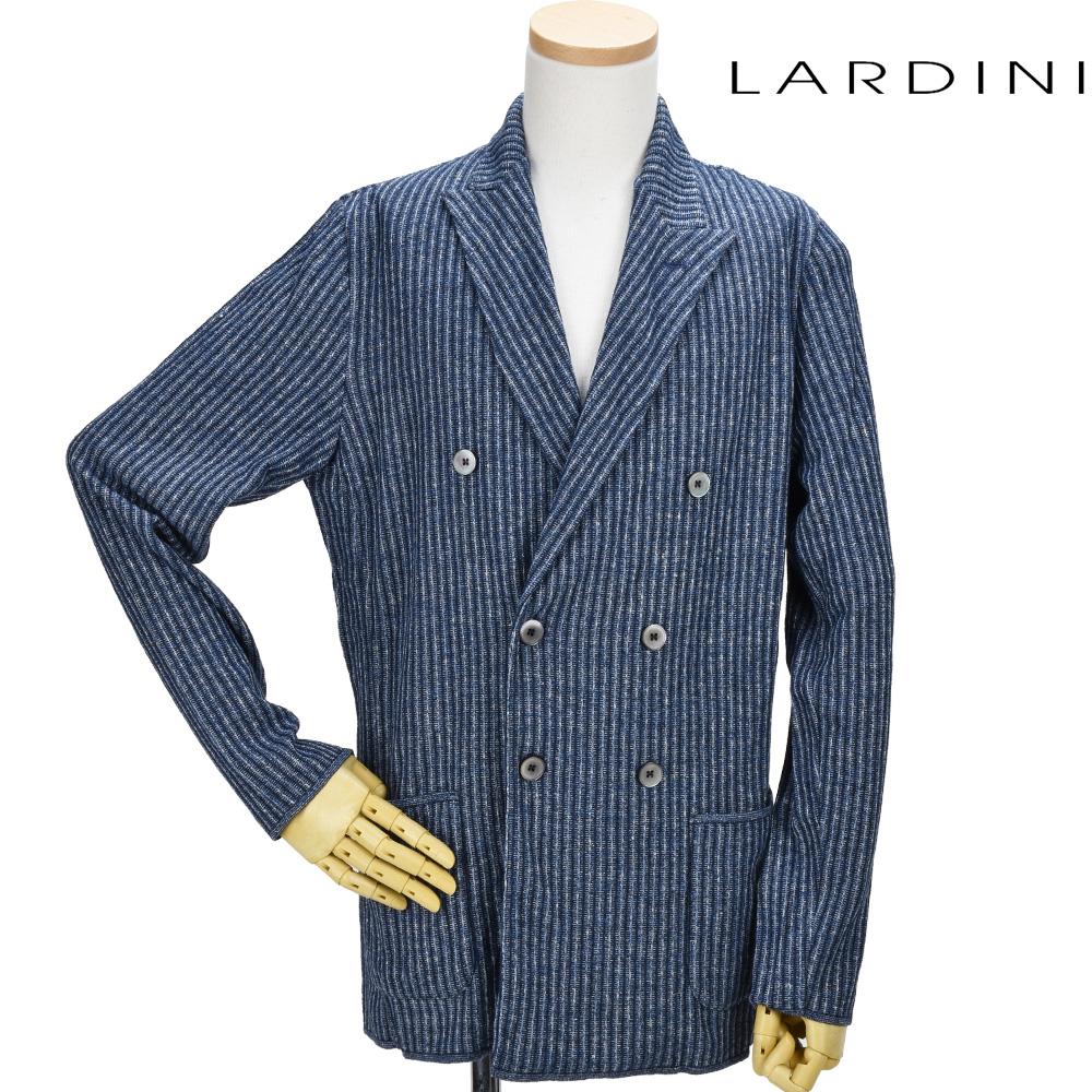 ラルディーニ LARDINI EGLJM21/EG52008 830CE JACKET ダブルジャケット テーラード ジャケット カジュアルジャケット ブルー系 メンズ【送料無料】