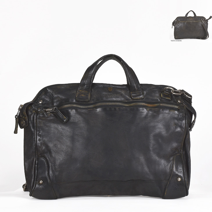 MINORONZONI ミノロンゾーニ bag バッグ MRF162B106 メンズ/BAG/レザー/鞄【AW】【送料無料】