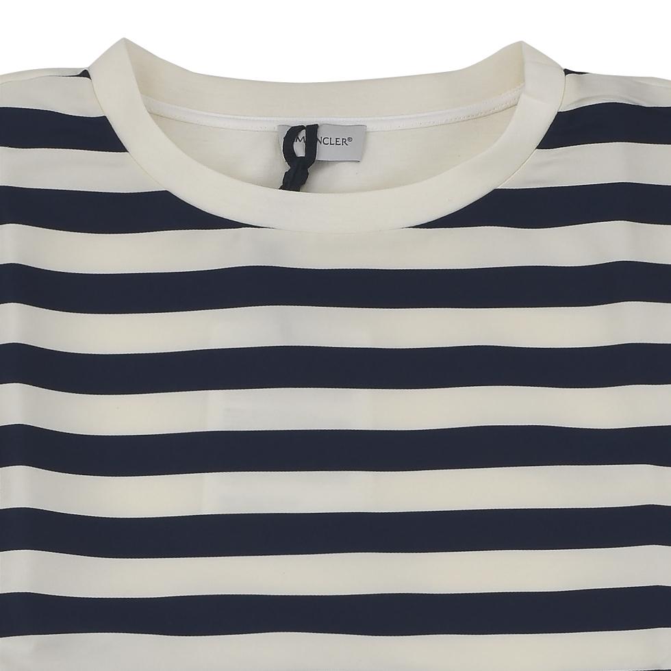 MONCLER MONCLER 80634 00 57774 / 742 T shirt white/blue women's /TOPS / tops/border
