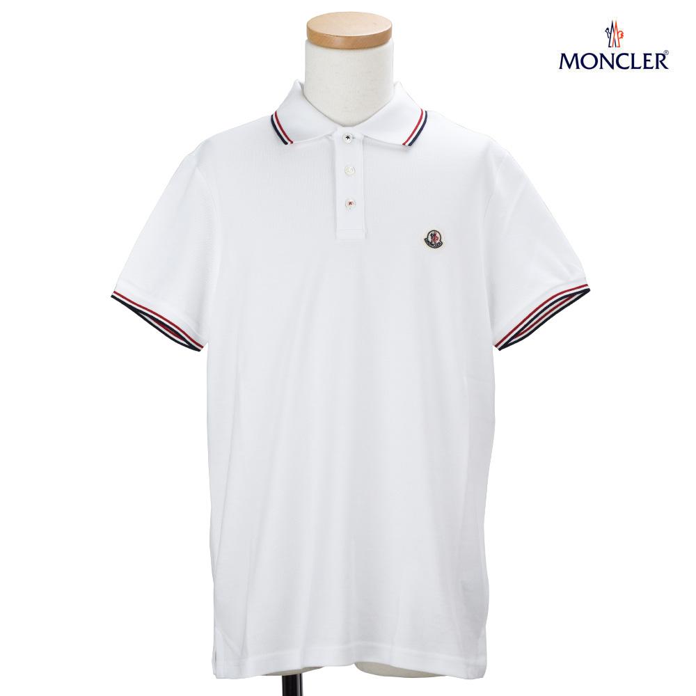 3da58c58 Monk rail MONCLER 83456.00 84556/001 POLO SHIRT polo shirt fawn short  sleeves tricolor white ...