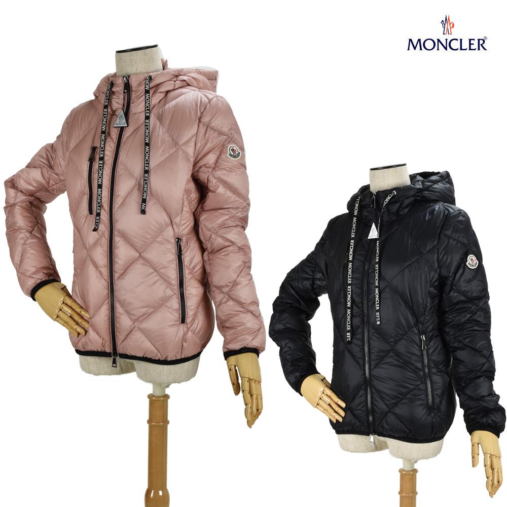 モンクレール MONCLER ダウンジャケット ブルゾン レディース フード付き ブラック ピンク 1A536.00 C0381/999/510 OULX BLACK PINK【送料無料】