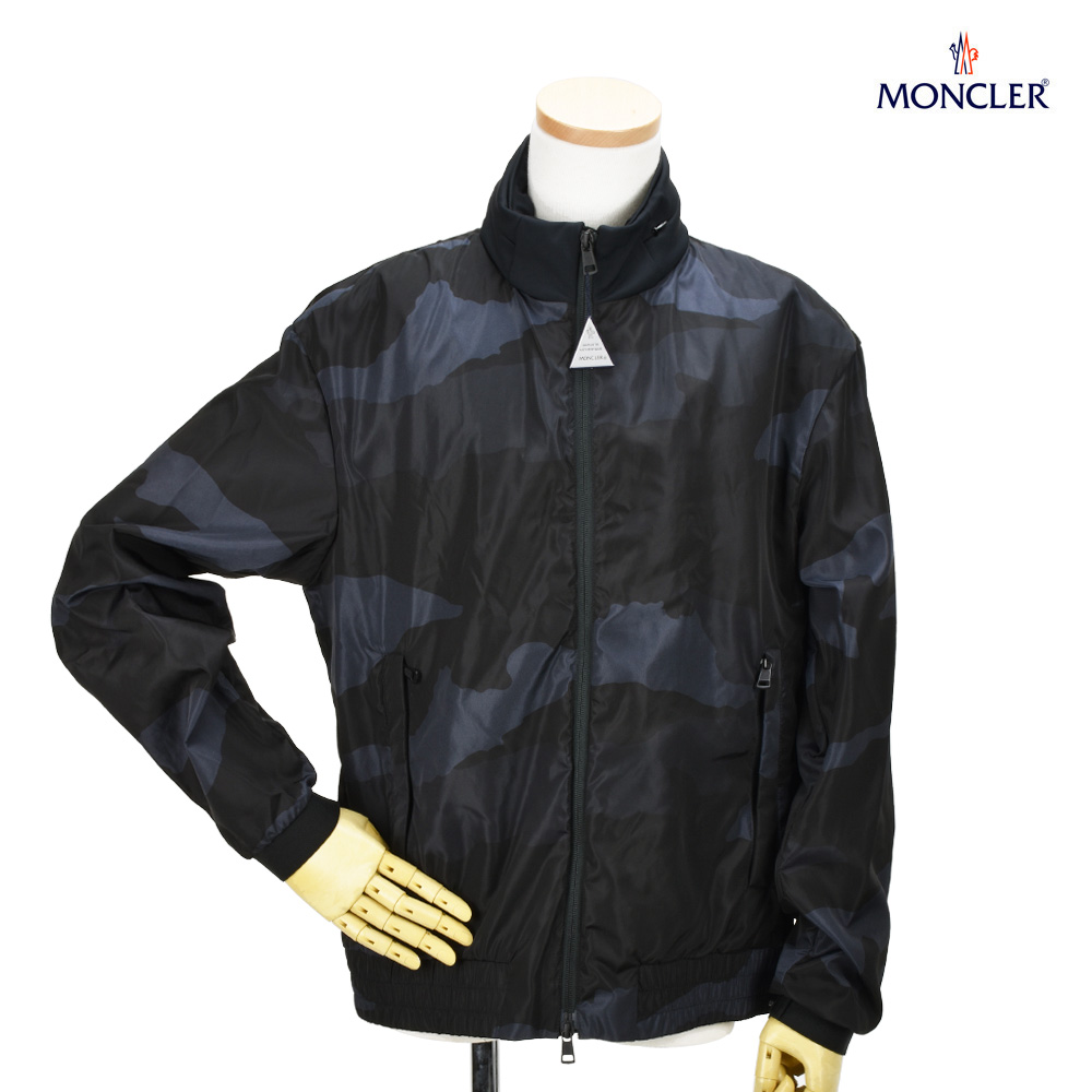モンクレール ナイロン ジャケット ジップアップジャケット ブラック カモ 黒 迷彩 メンズ MONCLER 41653.85 539HX/990 THEODORE JACKET 【送料無料】
