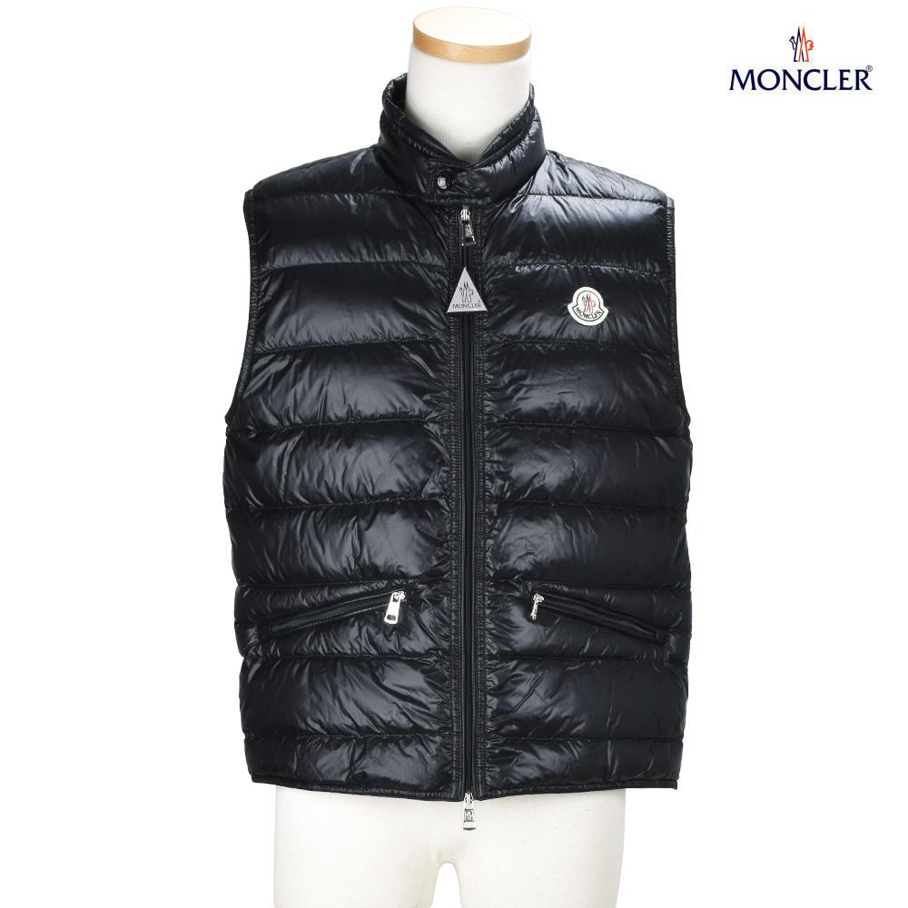 Monk rail MONCLER 43361.99 53029/999 GUI BLACK Gui down vest gilet black black men
