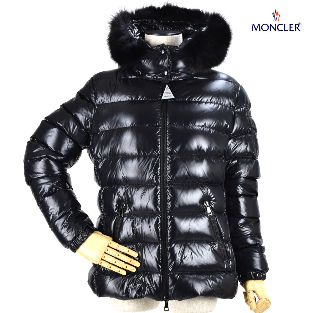 モンクレール MONCLER 46314.25 C0061/999 BADYFUR BLACK バディー ダウンジャケット ナイロン ブルゾン ファーフード ブラック 黒 レディース【送料無料】