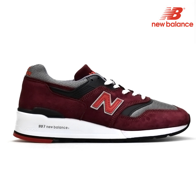 mieux aimé 03660 9bbdb New Balance New Balance M997CRG M997 men red RED Bordeaux gray GRAY sneakers