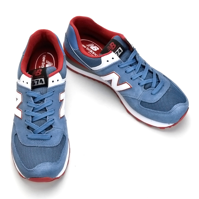 finest selection dbed4 de0b5 New Balance New Balance ML574CPI 574 men's CHAMBRAY RED chambray red  sneakers