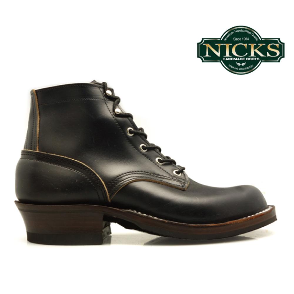 【最大2000円OFFクーポン配布 2/18 11:59まで】ニックス NICKS BOOTS ブーツ NICKS BOOTS ROBERT 黒 CHROME EXCEL ロベルト ブラック クロムエクセル 【送料無料】
