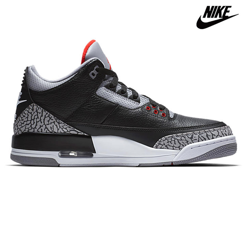 Nike NIKE AIR JORDAN 3 RETRO OG BLACK CEMENT 854,262-001 Air Jordan 3  nostalgic OG black cement sneakers basketball shoes black black BLACK men