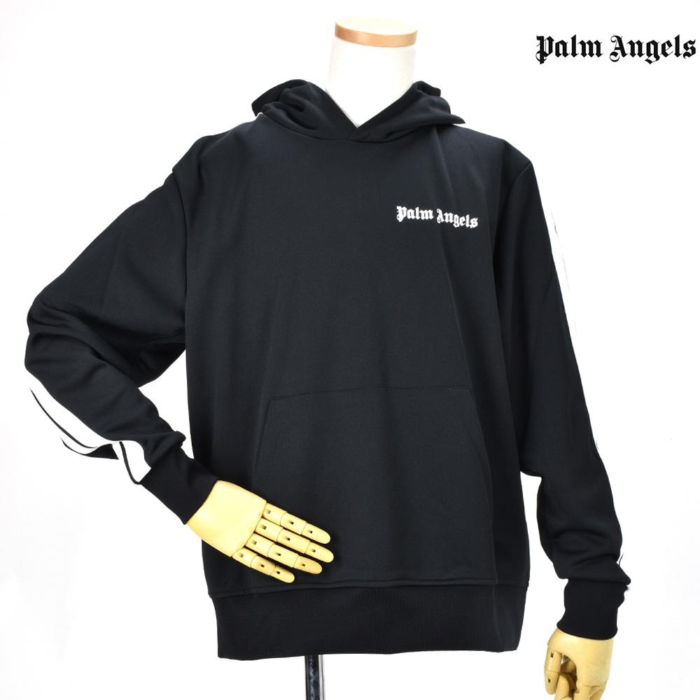 パームエンジェルス PALM ANGELS PMBD005F183840051001 TRACK HOODIE BLACK フーディ プルオーバー パーカー ブラック 黒 メンズ 【送料無料】