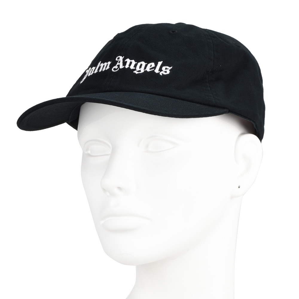 b7650dbd826 Palm Angels PALM ANGELS PMLB003F182240341001 CAP BLACK classical music logo cap  hat black black men