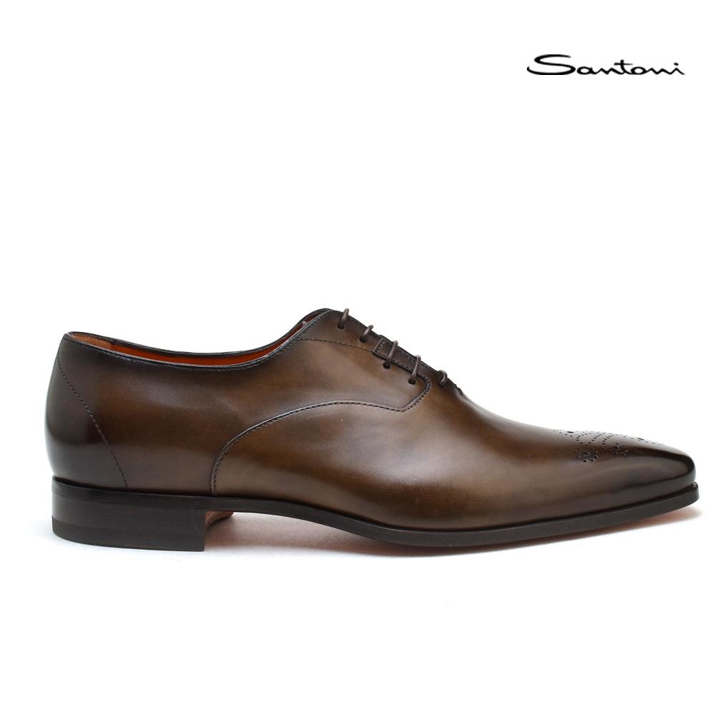 サントーニ レースアップ Santoni MCBO 10039 BA7IOBRT61 ブラウン ドレスシューズ 靴 メンズ 【送料無料】
