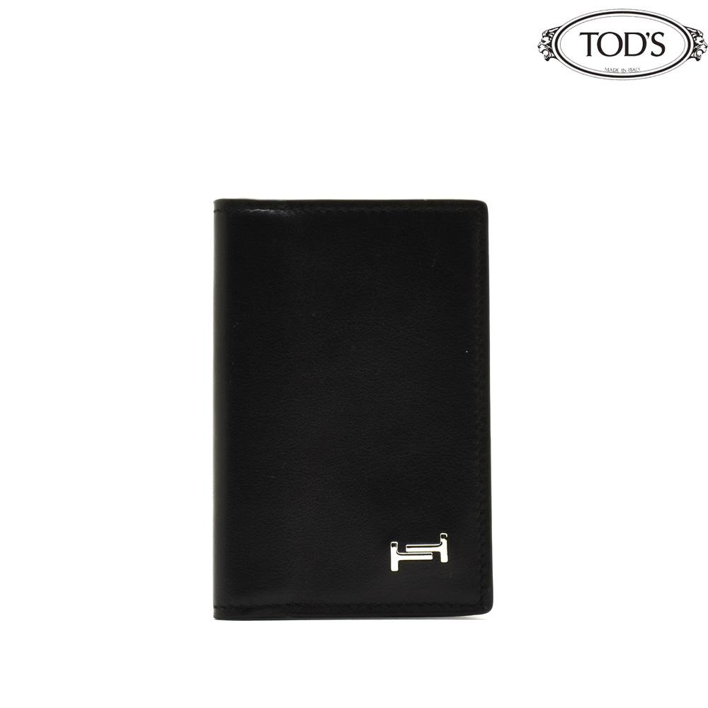 トッズ TOD'S XAMAMUFA200PZNB999/B999 CARDCASE BLACK カードケース パスケース 名刺入れ ブラック 黒 メンズ【送料無料】