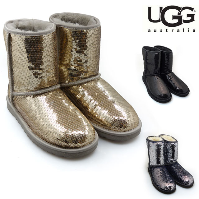 f27c8328f95 UGG Ugg Classic short sparkles Classic Short Sparkles boots 3161 3353 /  CHAMPAGNE 02P01Oct16