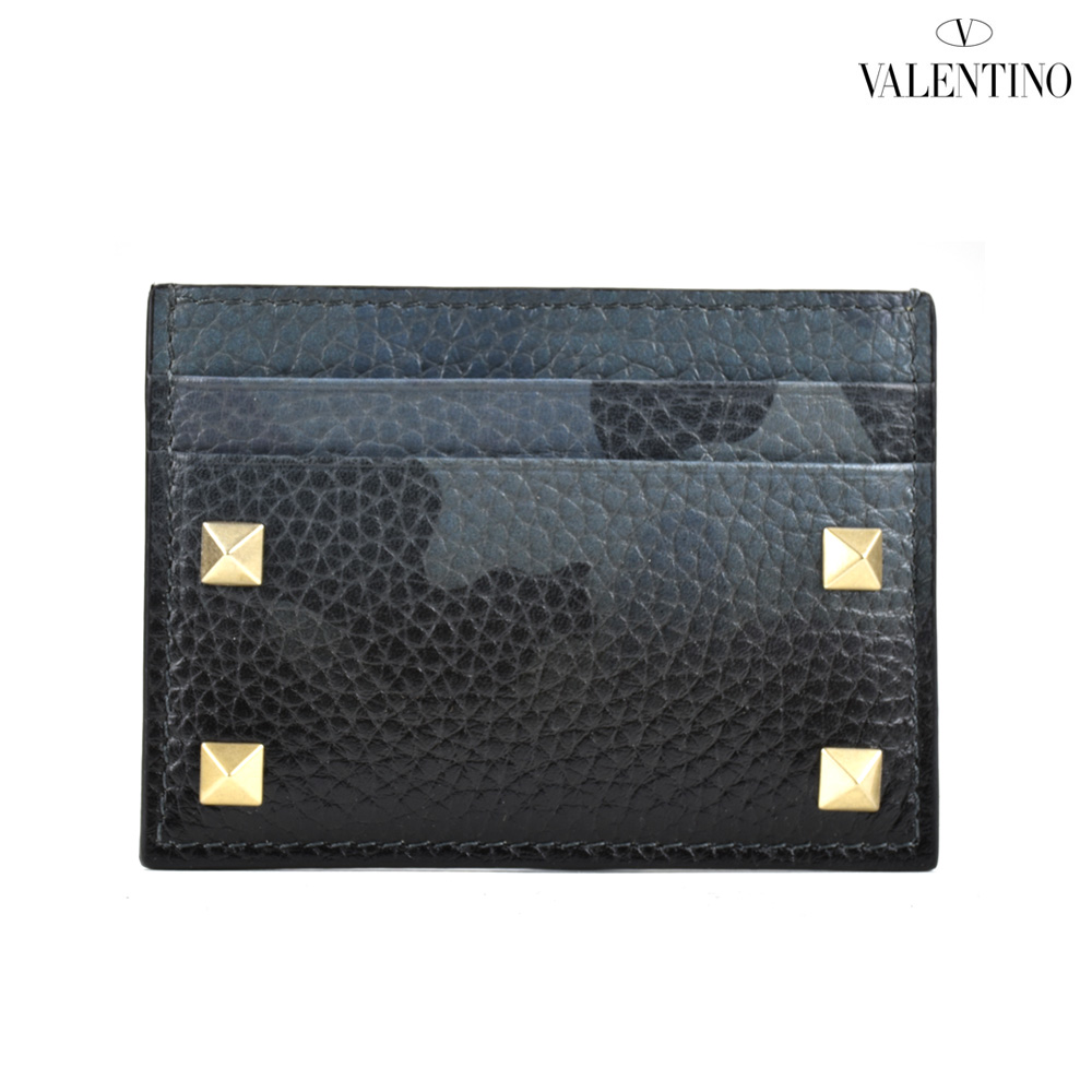 ヴァレンティノ VALENTINO MY0P0655VXM/V35 カードケース 名刺入れ パスケース カモフラ ブラック 黒 メンズ CARD CASE BLACK