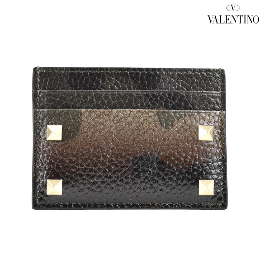 ヴァレンティノ VALENTINO MY0P0655VXM/V35 カードケース 名刺入れ パスケース カモフラ グリーン メンズ CARD CASE ARMY GREEN