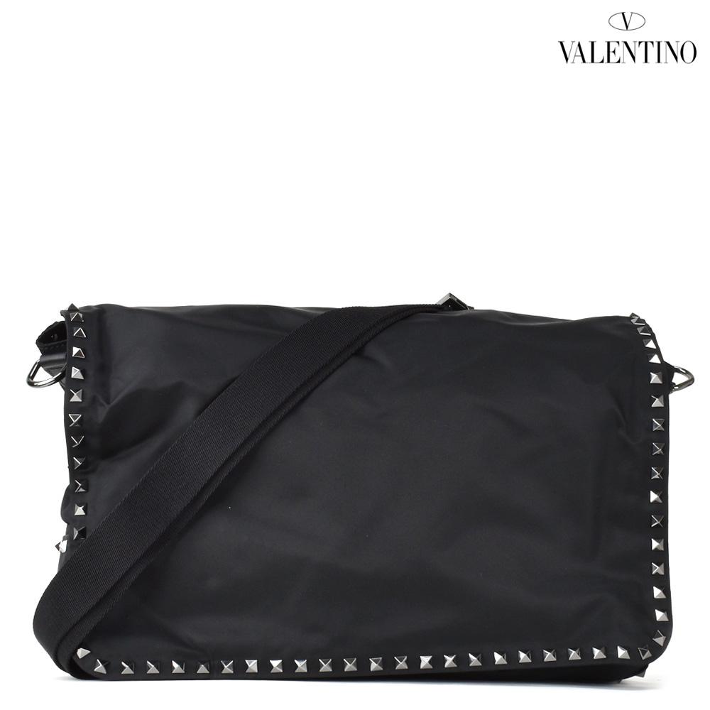 【ポイント3倍対象商品】ヴァレンティノ VALENTINO MY2B0551NOV/0NO メッセンジャーバッグ ショルダーバッグ スタッズ ブラック 黒 メンズ MESSENGER BLACK