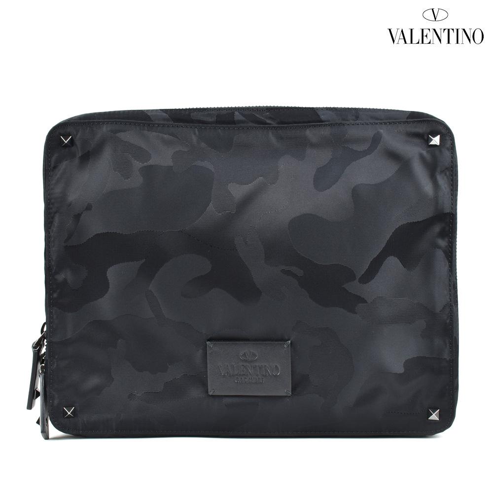 【海外 正規品】 ヴァレンティノ VALENTINO Camustars MY2B0564NBV/0NO Rockstud Camustars ロックスタッズ クラッチバッグ ブラック 黒 ブラック 黒 メンズ CLUTCK BLACK, ジェイモードエアロ:9b6ff84a --- killstress.org