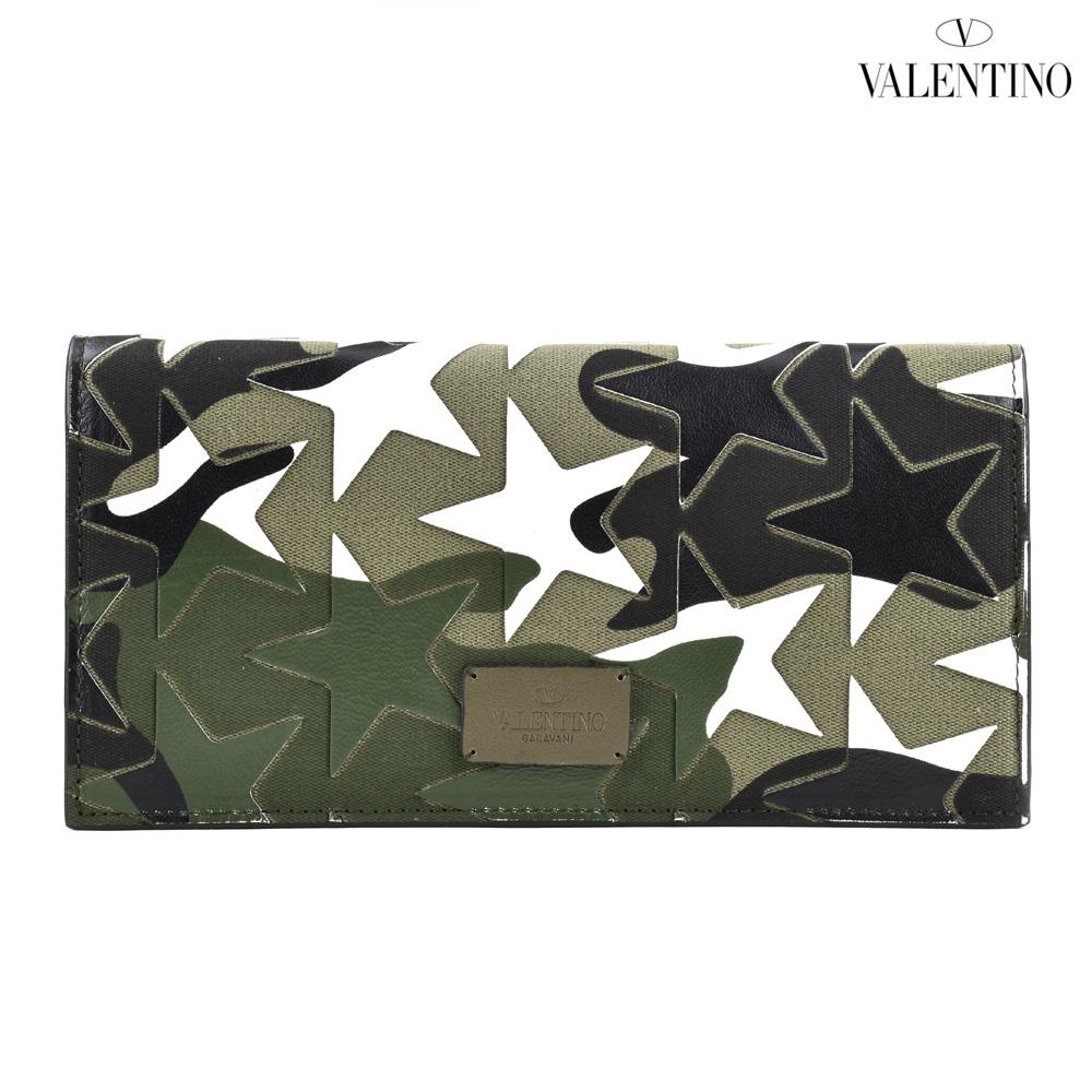 【ポイント3倍対象商品】ヴァレンティノ VALENTINO MY2P0569GAC/U41 カムスターズ 二つ折り長財布 カモフラ メンズ WALLET ARMY GREEN