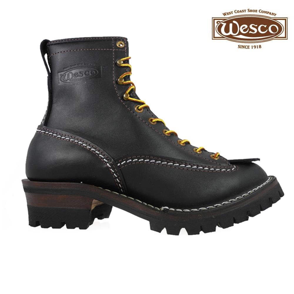 fantastic savings new authentic run shoes Wesco Inc. WESCO Custom Jobmaster BLACK 108100 Leather Height 8inch Vibram  Sole Wesco Inc. custom jobmaster 8 inches vibram sole brown work boots