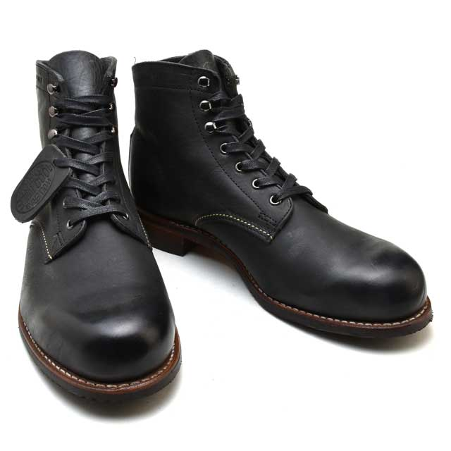 fed205fa20c Wolverene 1,000 miles boots black WOLVERINE 1000MILE BOOT MORLEY W00543  BLACK Morley work boots