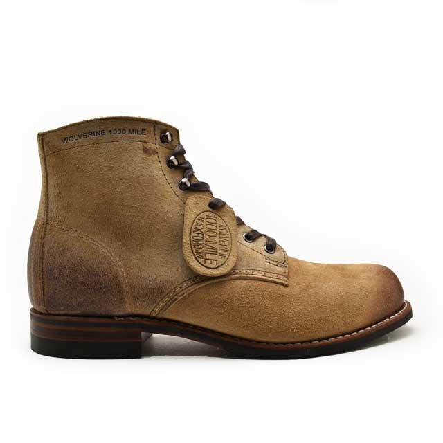 0ba996bc4b0 Wolverene 1,000 miles boots natural WOLVERINE 1000MILE BOOT MORLEY W00544  NATURAL Morley work boots