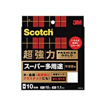スコッチ 超強力両面テープ プレミアゴールド (スーパー多用途) 10mm×10m 1セット(10巻)