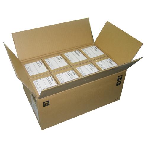 キヤノン 古紙配合名刺 両面マットコート 徳用箱 クリーム 3163B002 1セット(8000枚:500枚×16箱)