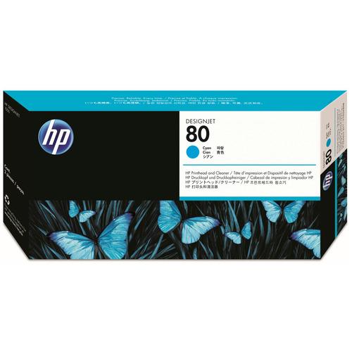 HP HP80 プリントヘッド/クリーナー シアン C4821A 1個