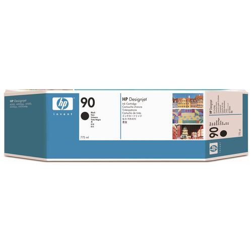 HP HP90 インクカートリッジ 黒 775ml 顔料系 C5059A 1個