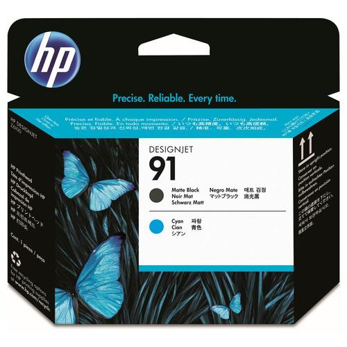 HP HP91 プリントヘッド マットブラック/シアン C9460A 1個