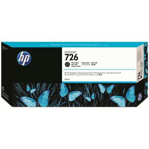 HP HP726 インクカートリッジ マットブラック 300ml 顔料系 CH575A 1個