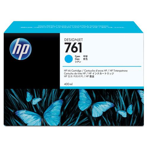 HP HP761 インクカートリッジ シアン 400ml 染料系 CM994A 1個