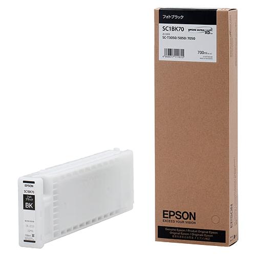 エプソン インクカートリッジ フォトブラック 700ml SC1BK70 1個