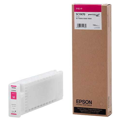 エプソン インクカートリッジ マゼンタ 700ml SC1M70 1個