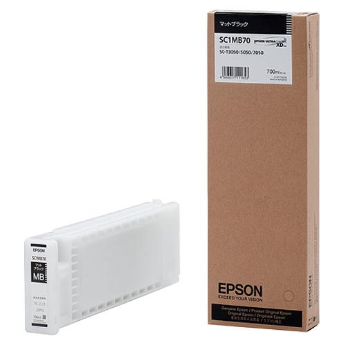 エプソン インクカートリッジ マットブラック 700ml SC1MB70 1個